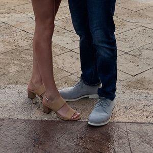 Franco Sarto Double Strap Block Heels